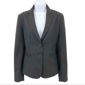Ann Taylor Blazer Wool Blend Suit Jacket Gray 6